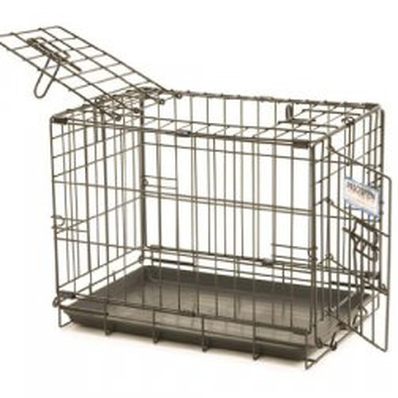 double door small dog crate