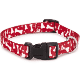 Casual Canine Red Bone Collar