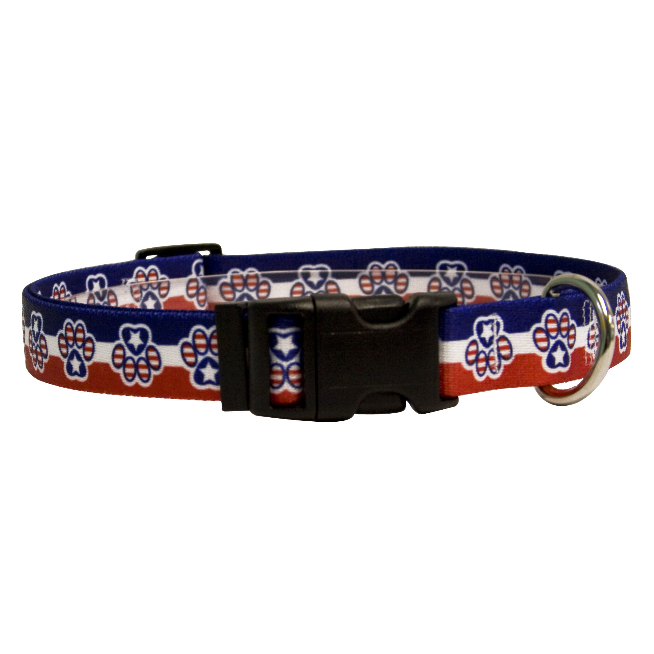 Yellow Dog Design Patriotic Paws Collar, Harness & Leash