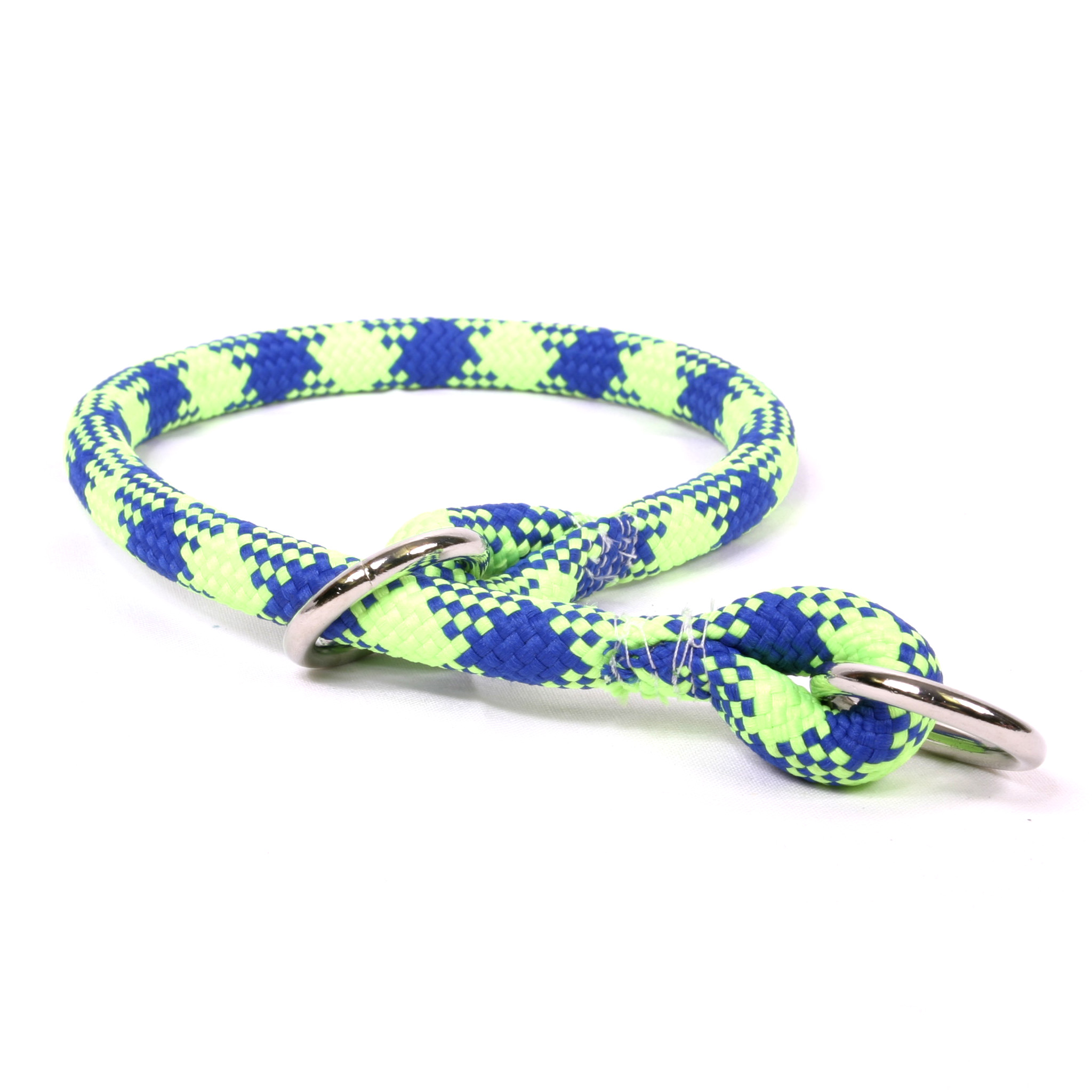 Yellow Dog DesignGreen & Blue Braided Slip Collar & Leash