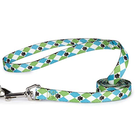 casual canine blue argyle leash