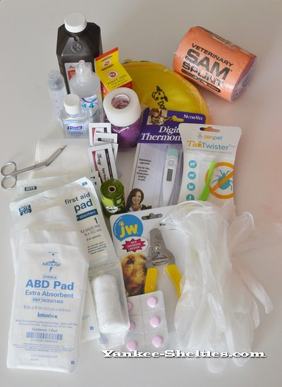 supplies for canine first aid kit