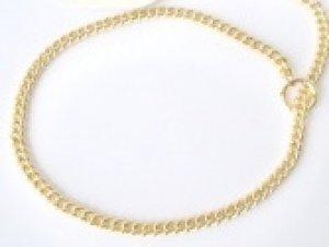 gold curb chain collar